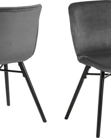 Šedá jídelní židle Actona Batilda
