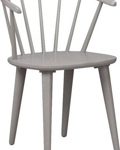 Světle šedá jídelní židle ze dřeva kaučukovníku Rowico Carmen