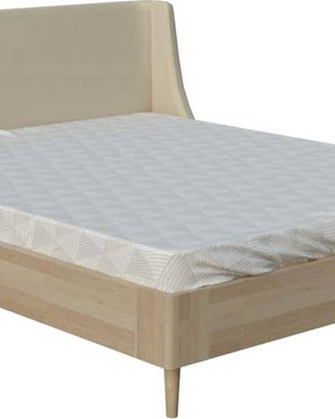 ProSpánek Béžová dvoulůžková postel ProSpánek Sofia, 140 x 200 cm