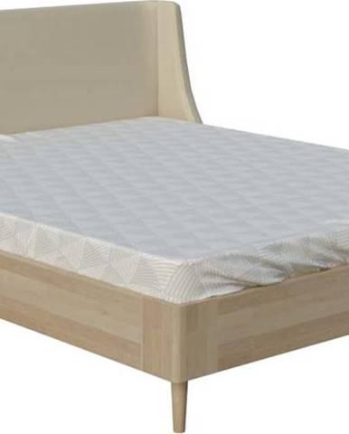 Béžová dvoulůžková postel ProSpánek Sofia, 180 x 200 cm