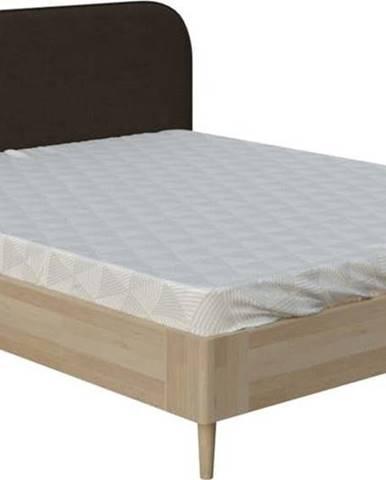 Hnědá dvoulůžková postel ProSpánek Arianna, 140 x 200 cm