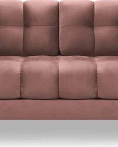 Růžová sametová pohovka Cosmopolitan Design Bali