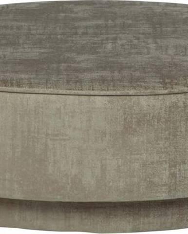 Světle hnědý sametový puf vtwonen Pearl, ø 80 cm