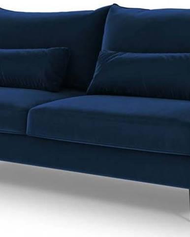 Tmavě modrá rozkládací pohovka s úložním prostorem Cosmopolitan Design Vermont