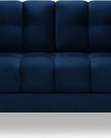 Tmavě modrá sametová pohovka Cosmopolitan Design Bali