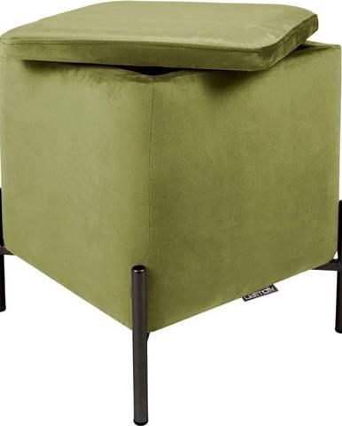 Zelená podnožka s úložním prostorem Leitmotiv Snog