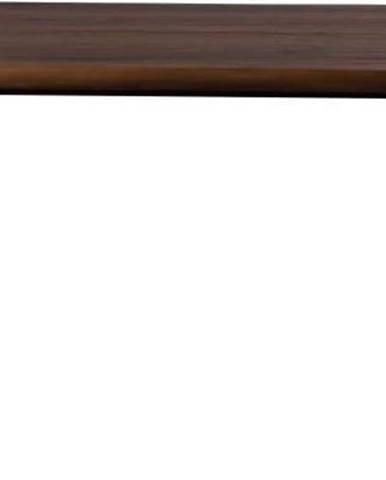 Jídelní stůl s černými ocelovými nohami Dutchbone Alagon Land, 160 x 90 cm