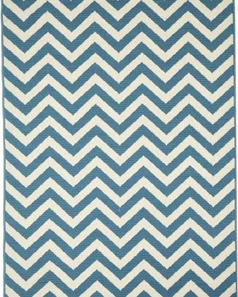 Floorita Světle modrý venkovní koberec Floorita Waves, 133 x 190 cm