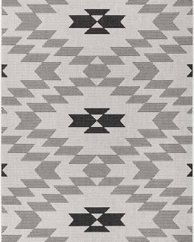 Černo-bílý venkovní koberec Ragami Geo, 160 x 230 cm
