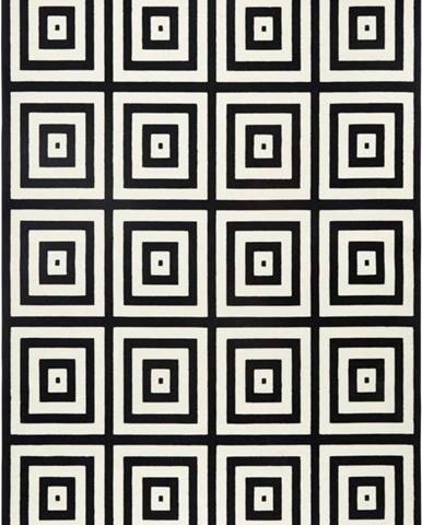 Černošedý koberec Hanse Home Duola, 70x140cm