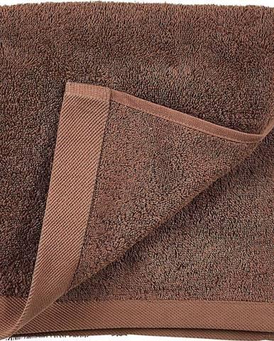 Červenohnědý ručník z froté bavlny Södahl Wood, 100 x 50 cm