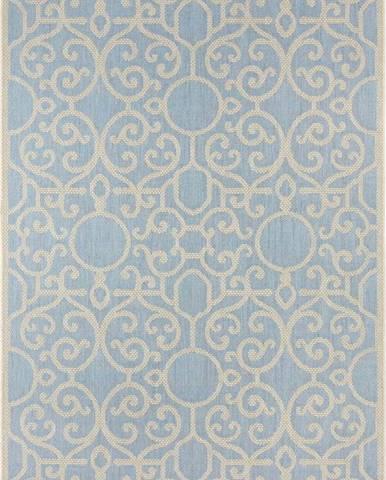 Modro-béžový venkovní koberec Bougari Nebo, 70 x 140 cm