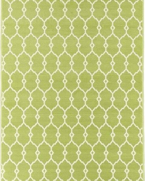Floorita Zelený venkovní koberec Floorita Trellis, 133 x 190 cm
