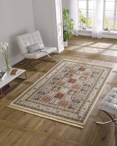Krémový koberec z viskózy Mint Rugs Precious, 70x140cm