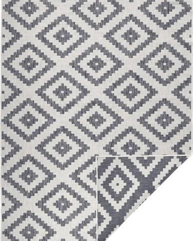 Šedý venkovní koberec Bougari Malta, 80 x 150 cm