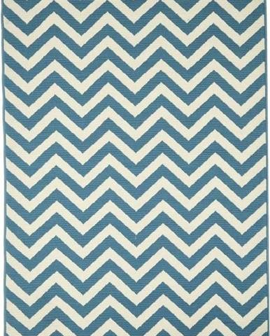 Světle modrý venkovní koberec Floorita Waves, 160 x 230 cm