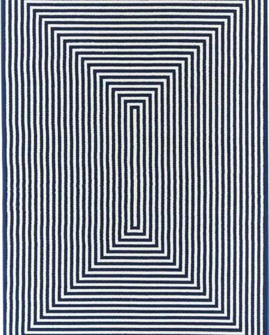 Tmavě modrý venkovní koberec Floorita Braid, 200 x 285 cm
