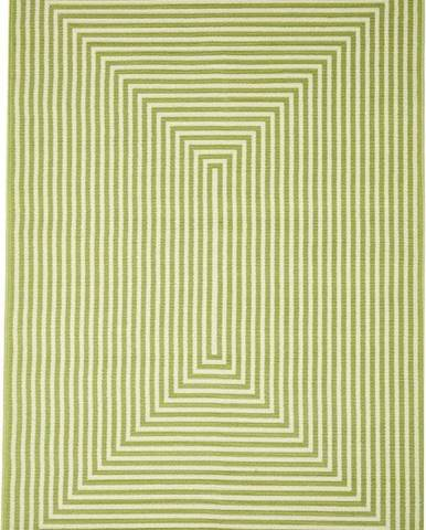 Zelený venkovní koberec Floorita Braid, 133 x 190 cm