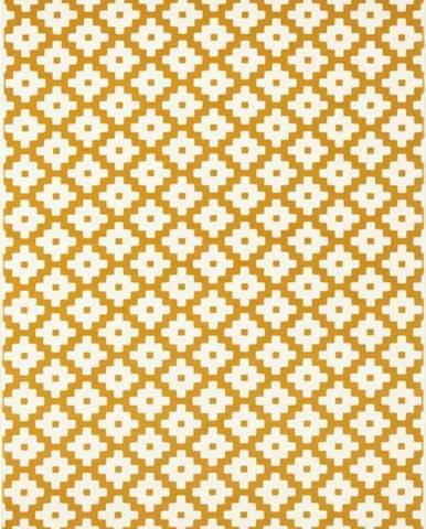 Žlutý koberec Hanse Home Celebration Raggo, 80 x 150 cm