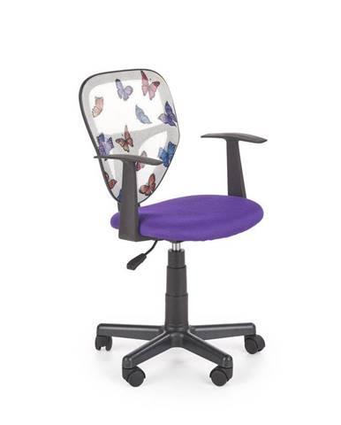Halmar Dětská síťovaná židle Spiker, fialová