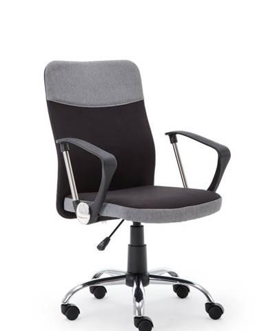 Halmar Kancelářská židle TOPIC, černá/šedá