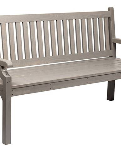 Dřevěná zahradní lavička, šedá, 124 cm, KOLNA