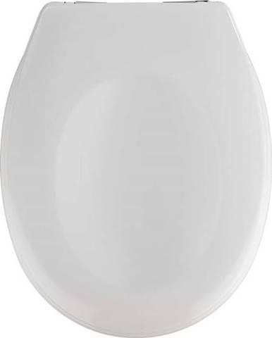 Bílé WC se snadným zavíráním sedátko Wenko Savio, 45 x 37,5 cm