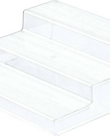 Průhledný 3patrový stojan do kuchyně iDesign Linus, 22x25,5cm