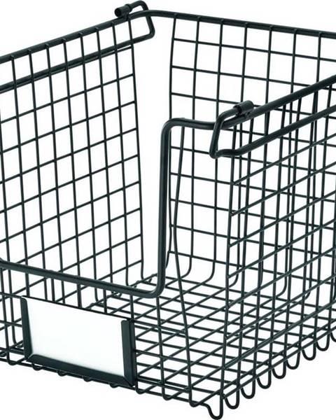 iDesign Černý kovový košík iDesign Classico, 25,5x22cm