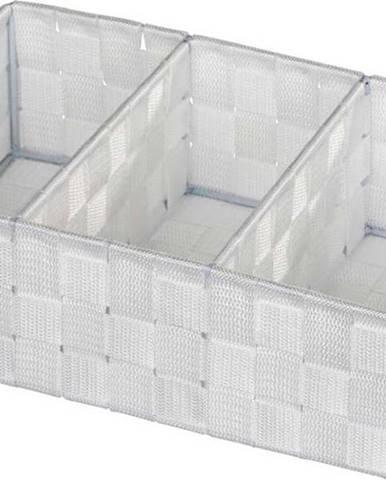 Bílý koupelnový organizér Wenko Adria Mini Grip