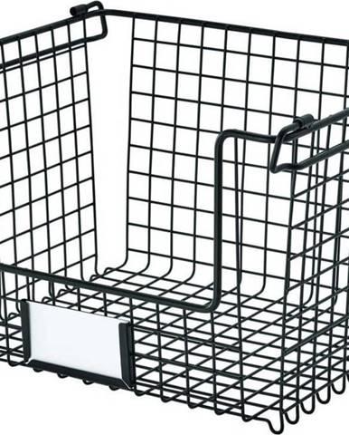 Černý kovový košík iDesign Classico, 31x25,5cm