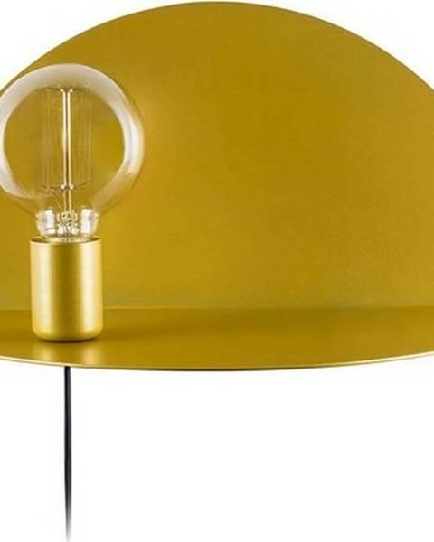 Homemania Decor Nástěnné svítidlo s poličkou ve zlaté barvě Homemania Decor Shelfie,délka20cm