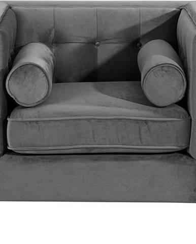 Antracitově šedé křeslo Max Winzer Jeronimo