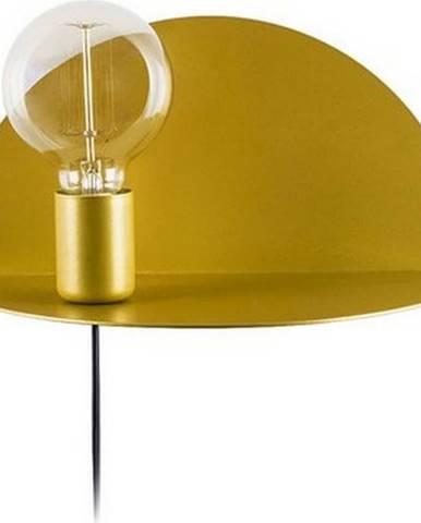 Nástěnné svítidlo s poličkou ve zlaté barvě Homemania Decor Shelfie,délka15cm