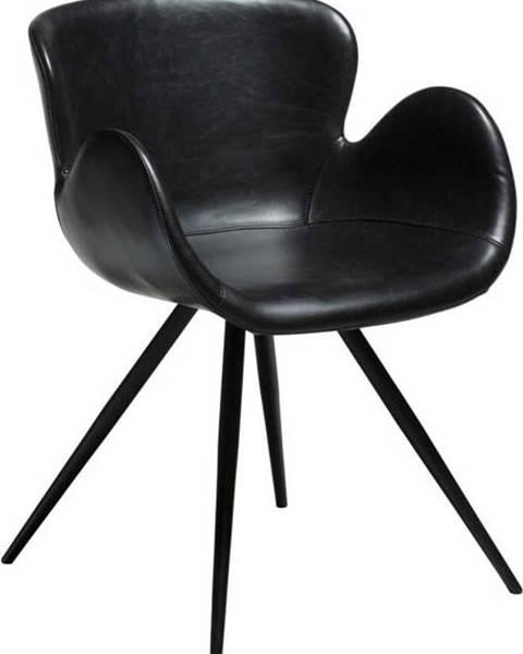 DAN-FORM Denmark Černá koženková židle DAN-FORM Denmark Gaia