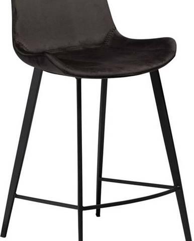 Černá barová židle DAN–FORM Denmark Hype Velvet, výška 91cm