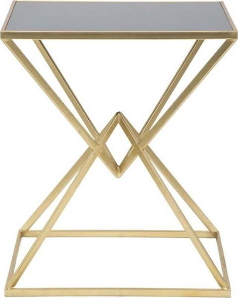 Mauro Ferretti Odkládací stolek s železnou konstrukcí ve zlaté barvě Mauro Ferretti Cleopatra, 46x57cm