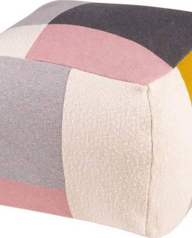 Vícefarebný puf sømcasa Block