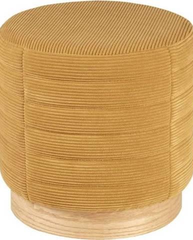 Žlutý manšestrový puf sømcasa Saul