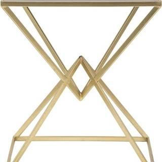 Odkládací stolek s železnou konstrukcí ve zlaté barvě Mauro Ferretti Cleopatra, 46x57cm