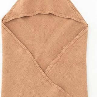 Dětský oranžový lněný ručník Linen Tales Waffle,70x70cm