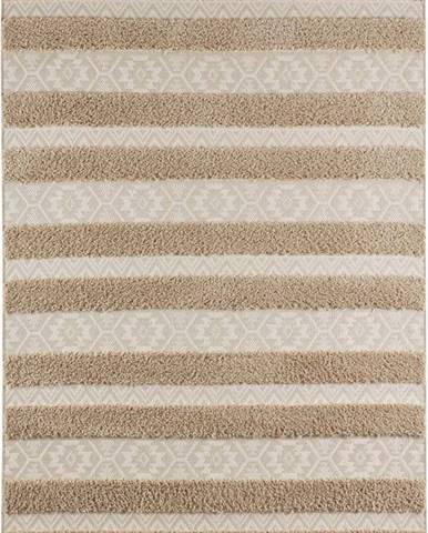 Hnědo-béžový koberec Mint Rugs Temara, 80 x 150 cm