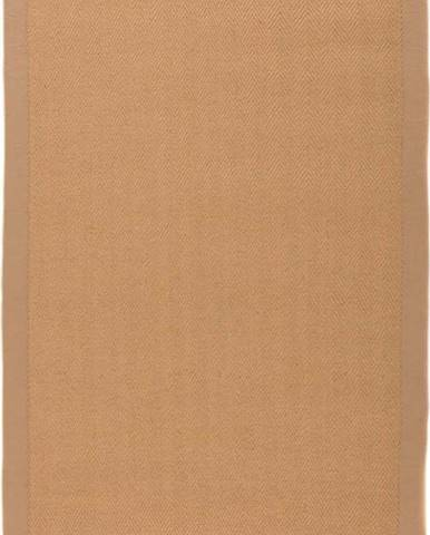 Hnědý jutový koberec Flair Rugs Herringbone, 80 x 150 cm