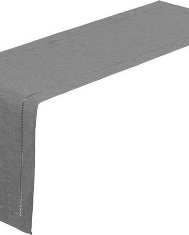 Šedý běhoun na stůl Unimasa, 150 x 41 cm