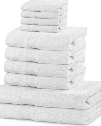 Set 8 bílých ručníků a 2 osušek DecoKing Marina White