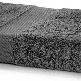 Tmavě šedá osuška DecoKing Bamby Charcoal, 70 x 140 cm