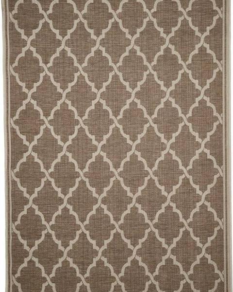 Floorita Hnědý venkovní koberec Floorita Intreccio, 200 x 290 cm