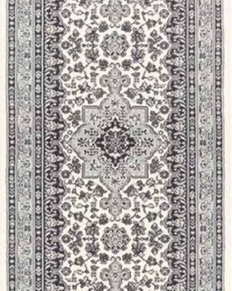 Nouristan Krémově-šedý koberec Nouristan Parun Tabriz, 80 x 250 cm