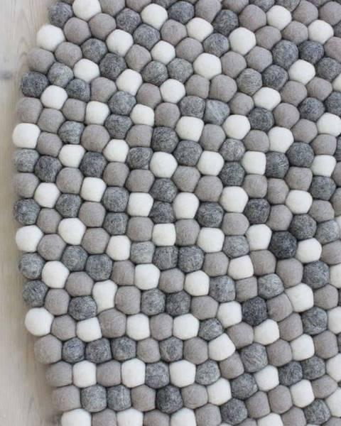 Wooldot Světle šedý kuličkový vlněný koberec Wooldot Ball Rugs, ⌀ 120 cm