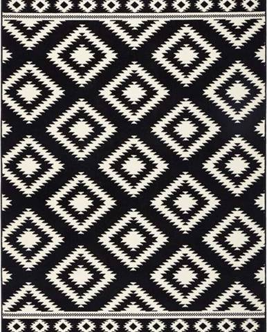 Černý koberec Hanse Home Gloria Ethno, 80x150cm